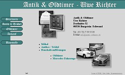 Screenshoot von www.antik-oldtimer.de