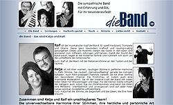 Screenshoot von www.dieband.eu