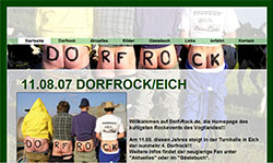 Screenshoot von www.dorf-rock.de