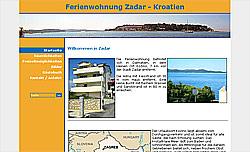 Screenshoot von www.ferienwohnungen-zadar.de