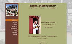 Screenshoot von www.gasthaus-zum-schreiner.de