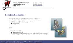 Screenshoot von www.ib-wbm.de