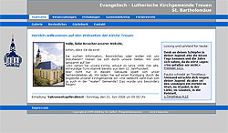 Screenshoot von www.kirche-treuen.de