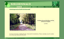 Screenshoot von www.kirchenwald.de