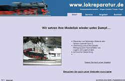 Screenshoot von www.lokreparatur.de