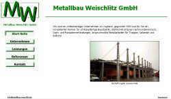Screenshoot von www.metallbau-weischlitz.de
