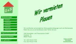 Screenshoot von www.plauner-wohnungen.de