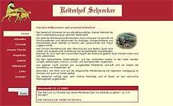 Screenshoot von www.reiterhof-schrecker.de