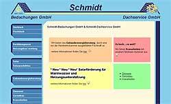 Screenshoot von www.schmidtbedachungen.de