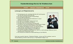 Screenshoot von www.strahlenschutz-beratung.com