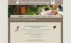 Screenshoot von www.susis-hundepflege.de
