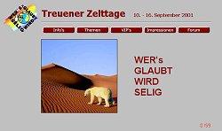 Screenshoot von www.treuener-zelttage.de