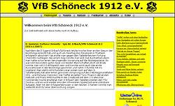 Screenshoot von www.vfbschoeneck1912.de
