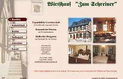 Screenshoot von www.wirtshaus-zum-schreiner.de